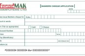 Cheque application